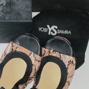 Yosi Samra Flats - Snakeskin-Print - NWOT